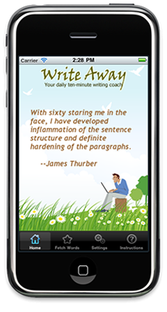 Write Away iPhone App